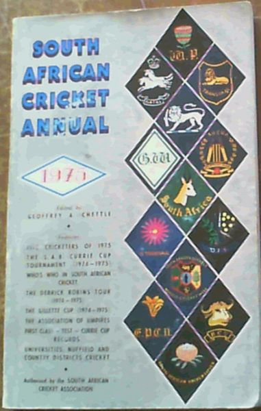 Image for South African Cricket Annual 1975