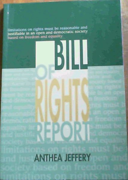Image for Bill of Rights Report 1996/97