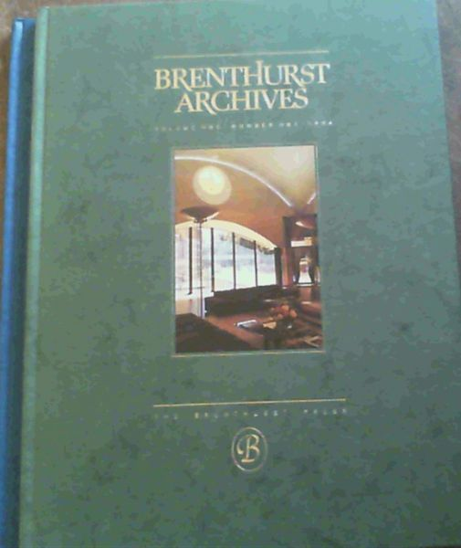 Image for Brenthurst Archives - Footnotes to History from the Brenthurst Library, Johannesburg the Private Africana Collection of Mr H. F. Oppenheimer - Volume One Number One 1994 ; Volume Two Number Two 1995