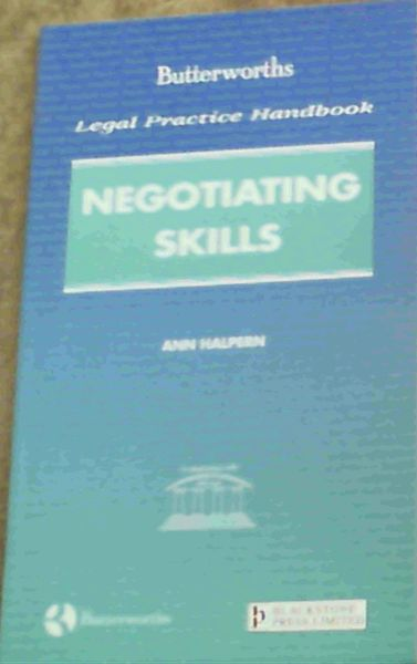 Image for Negotiating Skills : Butterworths' Legal Practice Hndbook