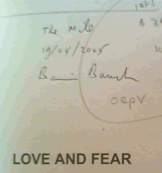 Image for Love and Fear