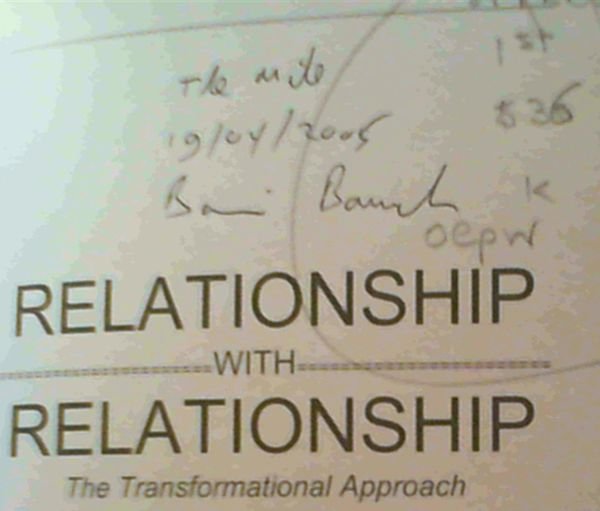 Image for Relationship with Relationship : The Transformational Approach