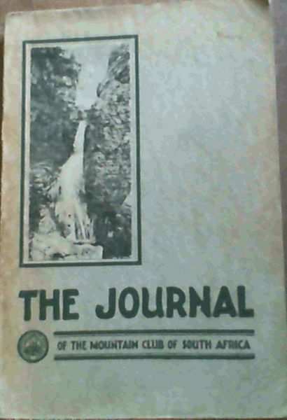 Image for The Journal of the Mountain Club of South Africa - being number thirty-nine for the year 1936