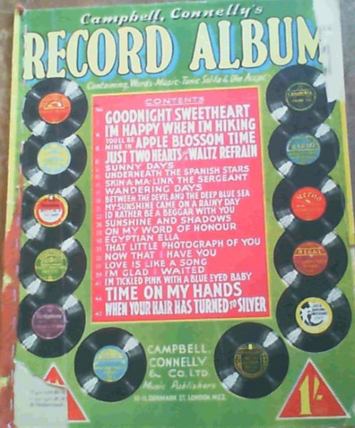 Image for Campbell, Connelly's Record Album - Containing Words, Music, Tonic Sol-fa & Uke Accpt