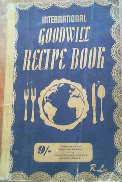 Image for International Goodwill Recipe Book