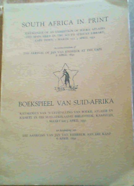 Image for South Africa in Print / Boekspieel van Suid - Afrika