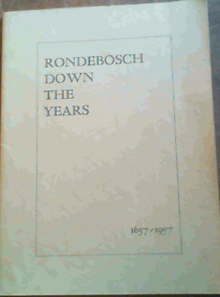 Image for Rondebosch Down The Years 1657-1957