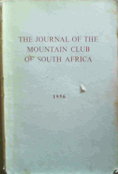 Image for The Journal Of The Mountain Club Of South Africa 1956