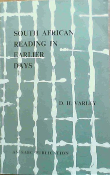 Image for South African Reading in Earlier Days