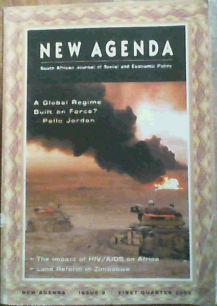 Image for New Agenda Issue 9 First Quarter 2003; South African Journal of Social & Economic Policy