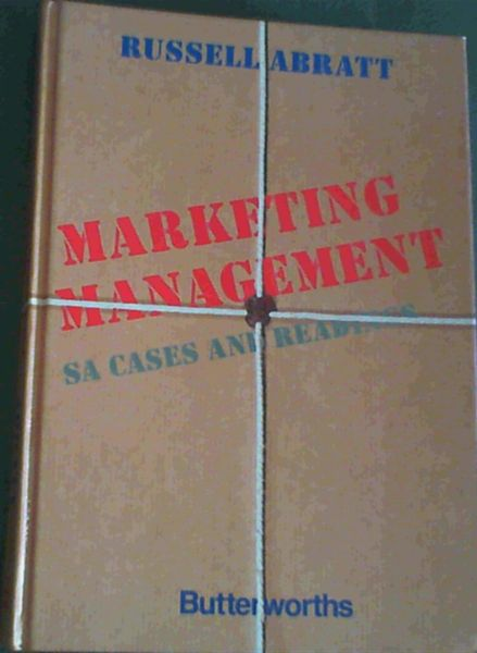 Image for Marketing Management SA Cases and Readings