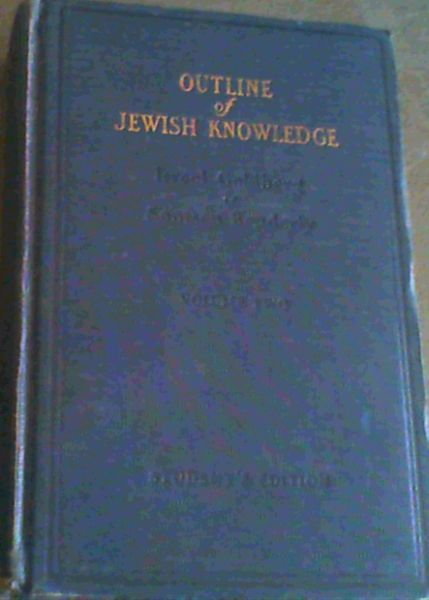 Image for Outline of Jewish Knowledge. Volume 2 only