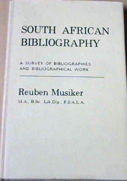 Image for South African Bibliography