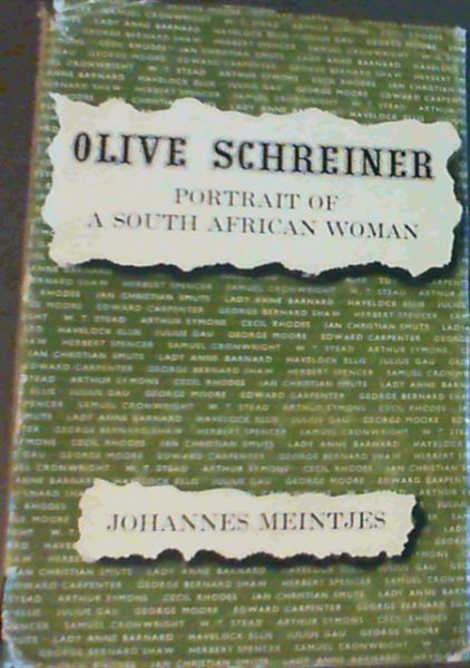 Image for Olive Schreiner : Portrait of a South African Woman