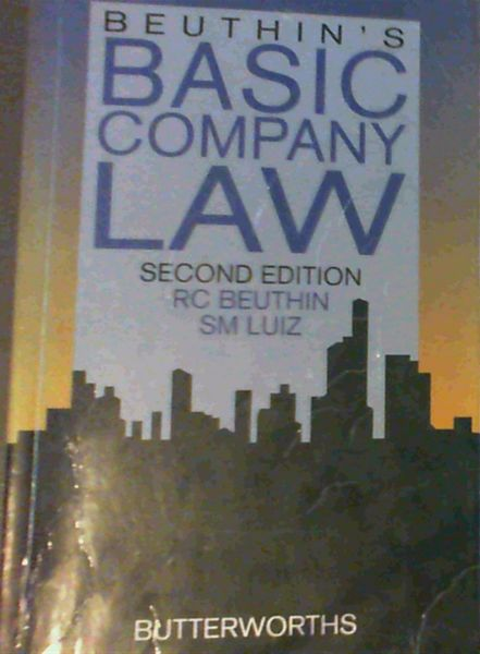Image for Beuthin's Basic Company Law. 2nd edition