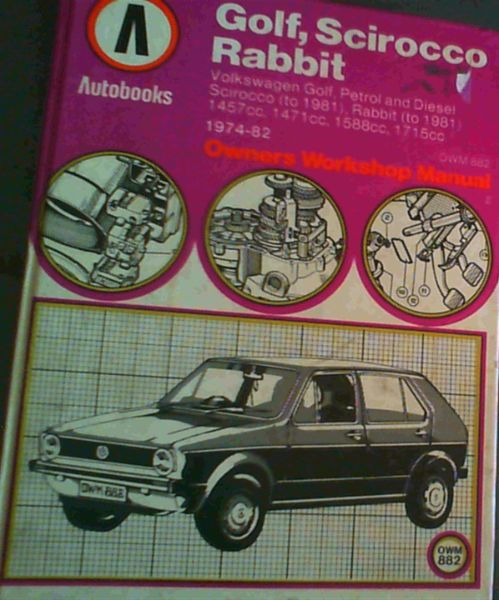 Image for Volkswagen Golf, Scirocco, Rabbit 1974-82 Autobook (The Autobook series of workshop manuals)