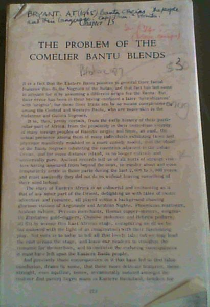 Image for Extract: Bantu Origins: The People and their Language - Chapters 15 & 16