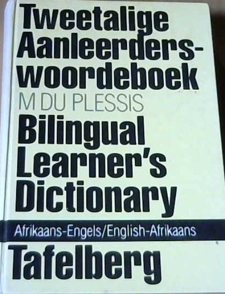 Image for Bilingual Learner's Dictionary: Afrikaans-English and English-Afrikaans