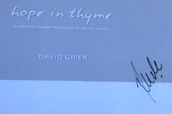 Image for Hope in Thyme: A Journey along the Coast of South Africa