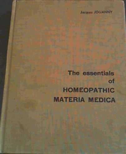 Image for The Essentials of Homeopathic Materia Medica