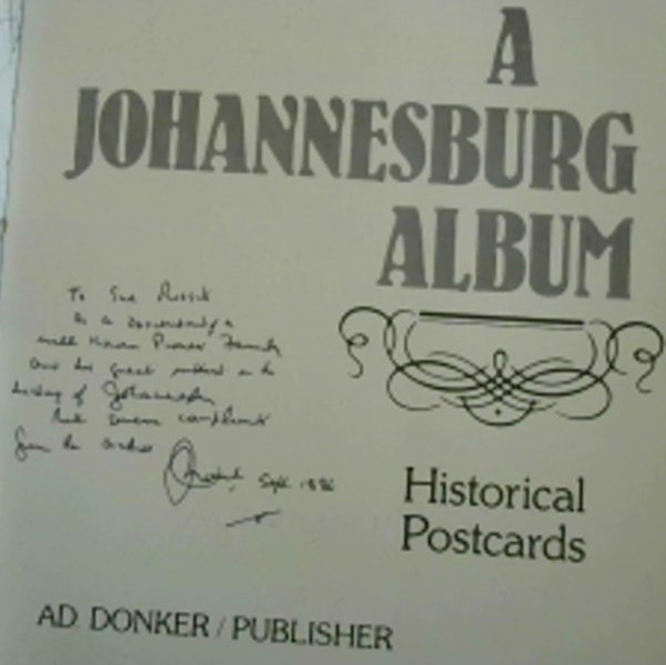 Image for A Johannesburg Album: Historical Postcards
