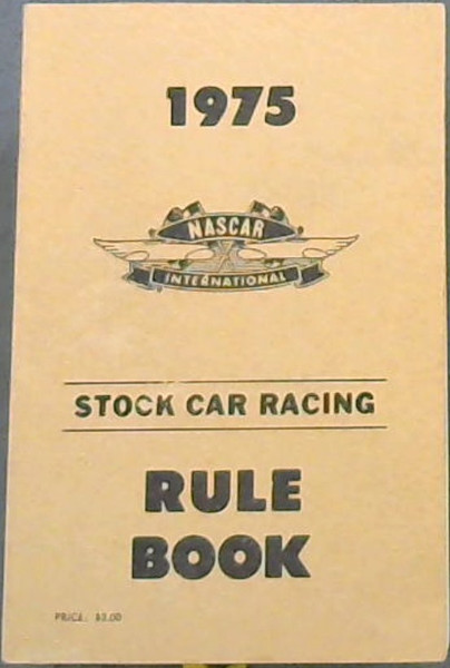 Image for Stock Car Racing Rule Book