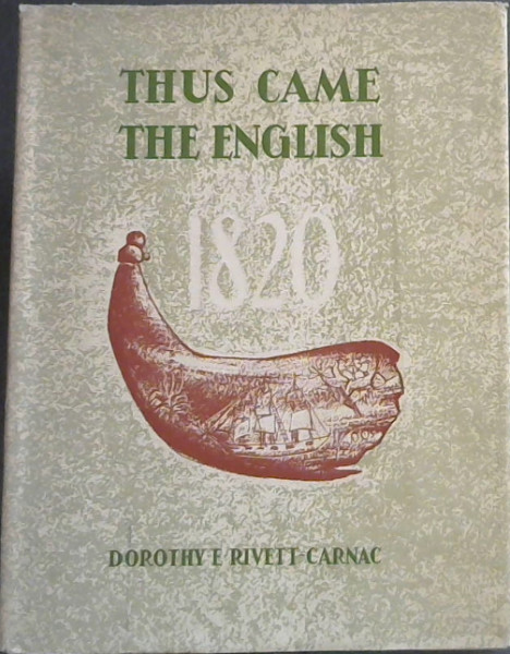 Image for Thus Came the English in 1820