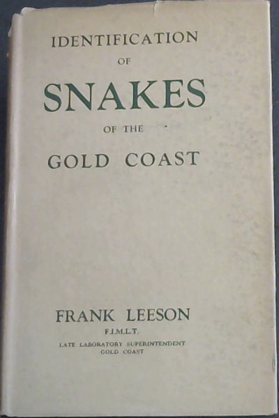 Image for Identification of Snakes of the Gold Coast