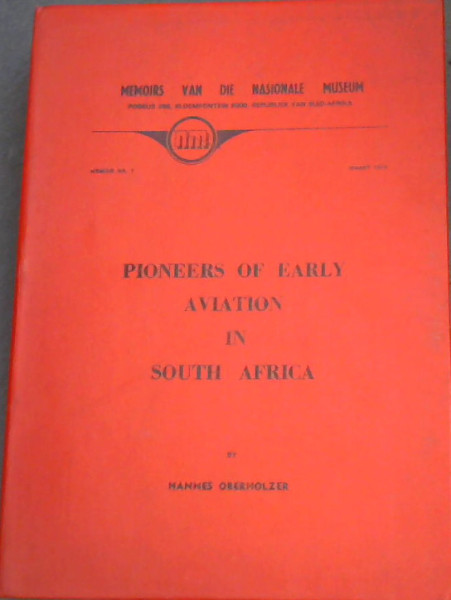 Image for Pioneers of Early Aviation in South Africa