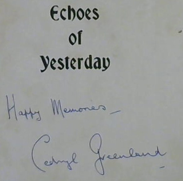 Image for Echoes of Yesterday