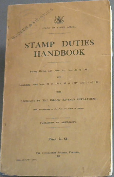 Image for Stamp Duties Handbook