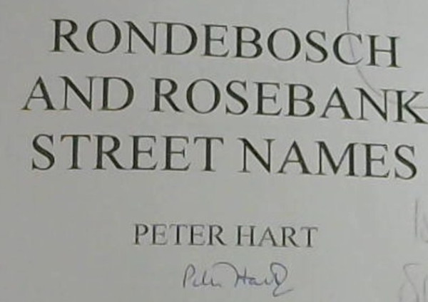 Image for Rondebosch and Rosebank Street Names