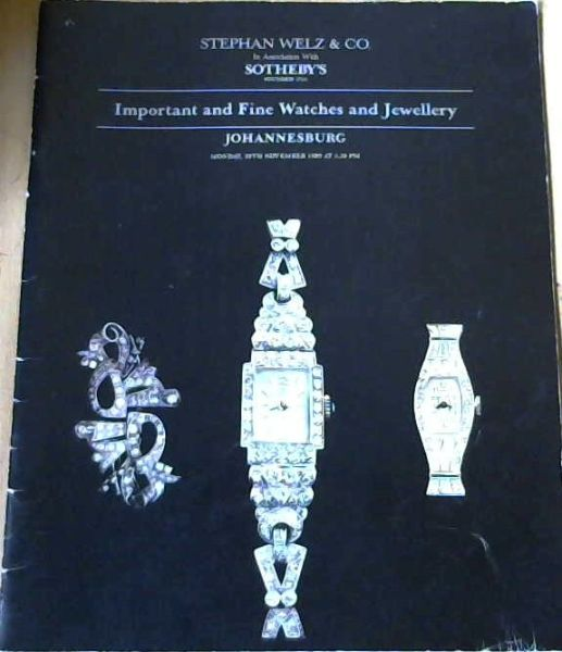 Image for Important And Fine Watches And Jewellery 20 November 1989