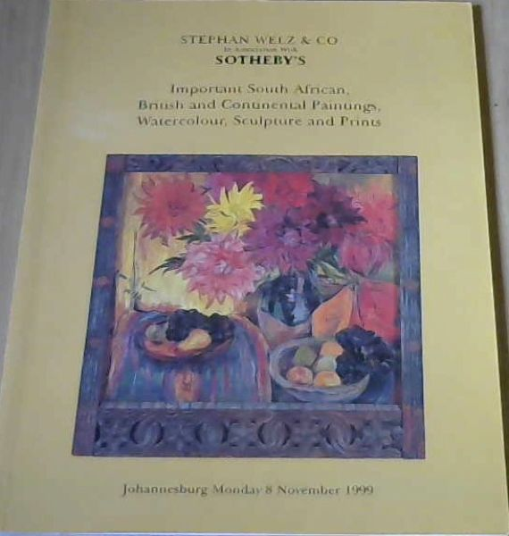 Image for Important South African, British And Continental Paintings, Watercolour, Sculpture And Prints 8 November 1999