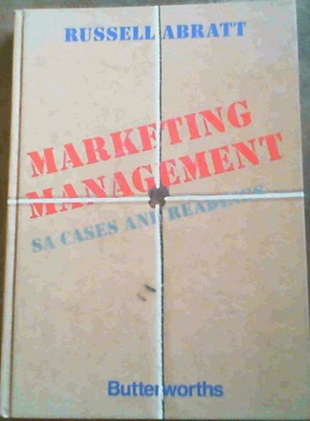 Image for Marketing Management: SA Cases and Readings