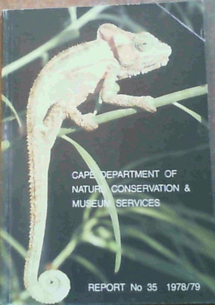 Image for Cape Department Of Nature Conservation & Museum Services Report No. 35 1978/79