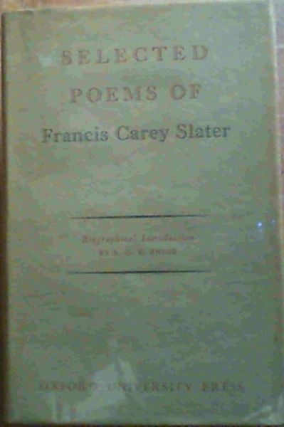Image for Selected Poems of Francis Carey Slater