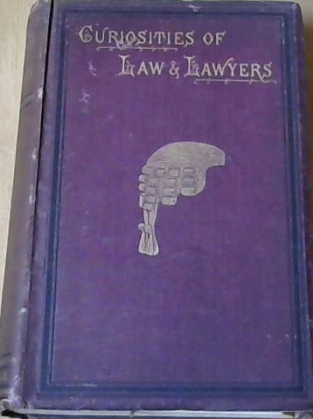 Image for Curiosities of Law and Lawyers
