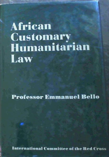 Image for African Customary Humanitarian Law