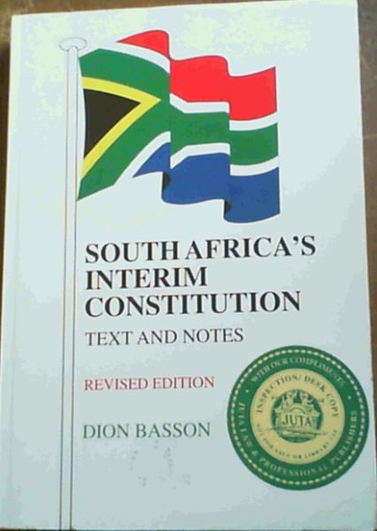 Image for South Africa's Interim Constution; Text & Notes